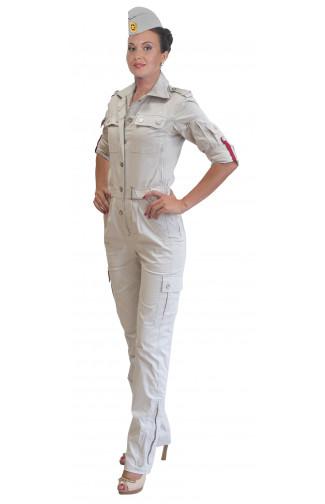 2014 Комбинезон полетный женский твил серый