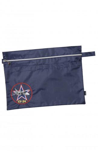 Папка сувенирная с вышивкой СУ-24 кордура синий