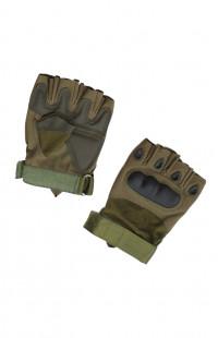 Перчатки тактические без пальцев хаки