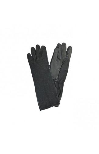 Перчатки летные из огнестойкой ткани черный