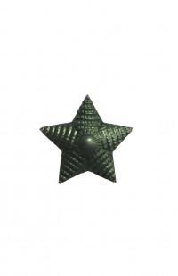 Звезда на погоны 13 мм металл защитная рифленая