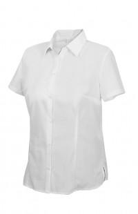 Блузка офиснаяс короткимрукавом белая
