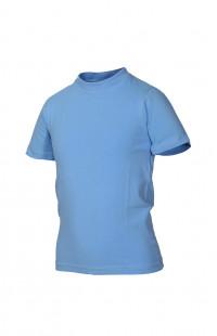 Футболка детская трикотажная голубая
