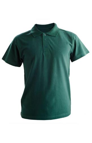 Рубашка поло хлопок темно-зеленый