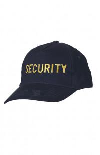 Бейсболка классик с вышивкой Security хлопок синий