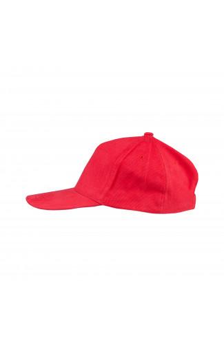 Бейсболка плотная велюр красный