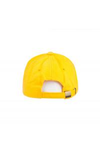 Бейсболка плотная велюр желтый