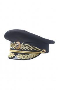 Фуражка генерала повседневная рип-стоп черный