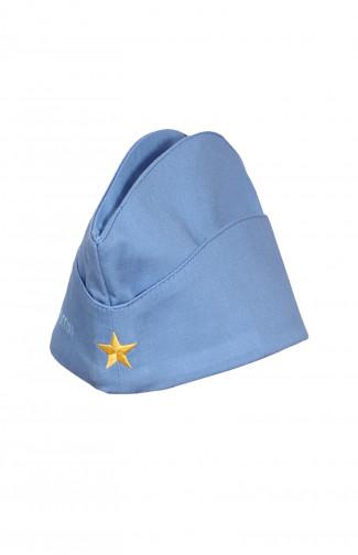 Пилотка форменная детская с вышивкой Патриот России твил голубой