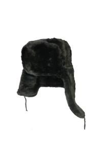 Шапка-ушанка иск.мех черный