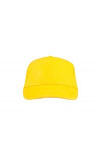 Бейсболка классик х/б желтый