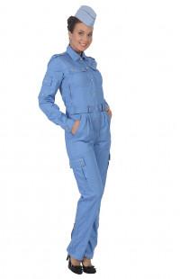 Комбинезон полетный женский твил голубой