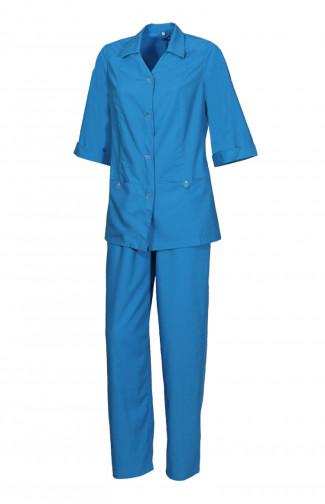 1045/1046 Костюм женский универсальный смесовая голубой