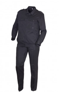 Костюм для охраны костюмная черный матовый