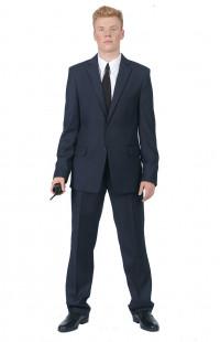 Костюм офисный мужской п/э тёмно-синий