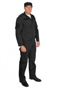 Костюм охранника мужской рип-стоп черный