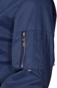 Куртка-бомбер мужская с капюшоном п/э темно-синий