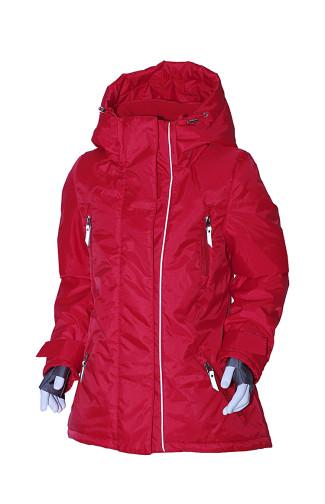 Куртка для девочки утепленная Оксфорд красный