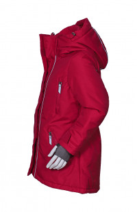 Куртка для девочки утепленная Таслан красный