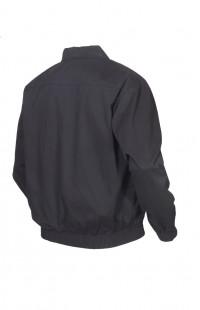 Куртка-ветровка полетная твил черный с оранжевой подкладкой