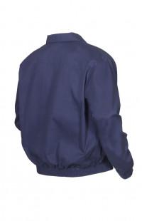 Куртка-ветровка полетная твил синий с оранжевой подкладкой