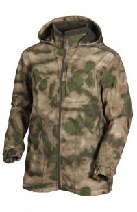 Куртка демисезонная ЗАРЯ софтшелл камуфляж зеленый