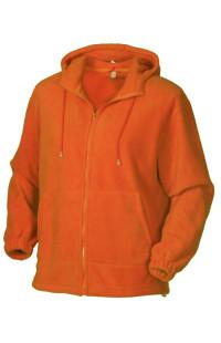 Куртка с капюшоном флис оранжевый