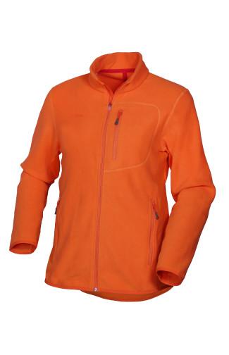 Куртка флис с трикотажными вставками оранжевый