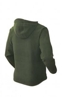4266 Куртка мужская с капюшоном флис олива
