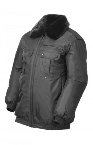 Куртка зимняя п/а черный распродажа