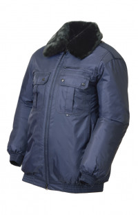 Куртка зимняя укороченная п/а синий