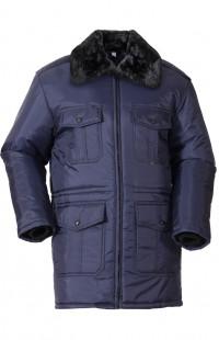 Куртка зимняя ОХРАННИК п/а синий