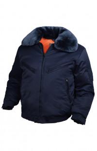 Куртка зимняя смесовая синий