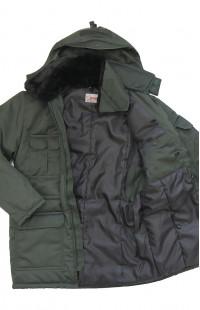 Куртка мужская утепленная смесовая зеленый
