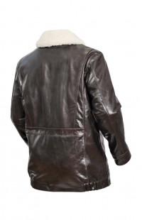 Куртка мужская из кожи буйвола утепленная