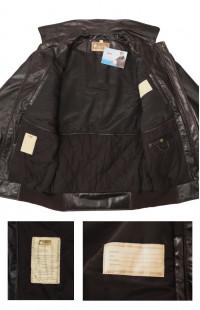 Куртка ПИЛОТ укороченная кожаная коричневый