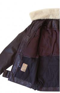 Куртка Ретро кожаная коричневый