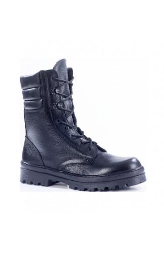 Ботинки зимние мужские нат.кожа/иск мех черные