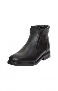 Ботинки зимние мужские нат.кожа черные