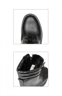 Ботинки мужские зимние нат.кожа нат.мех черные