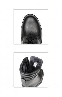 Ботинки мужские зимние нат.кожа иск.мех черные