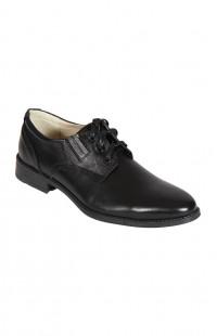 Туфли мужские на шнурках нат.кожа черные