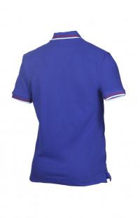 Рубашка поло хлопок синий