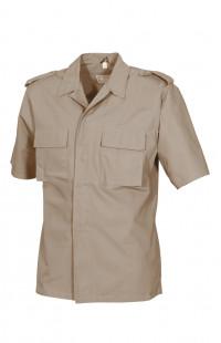 Рубашка полевая с коротким рукавом рип-стоп смесовая бежевый