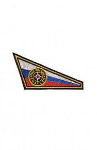 Шеврон триколор (уголок) на берет МЧС России