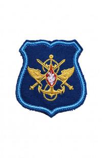 0505 Шеврон Эмблема ЦА МО РФ синий на контактной ленте