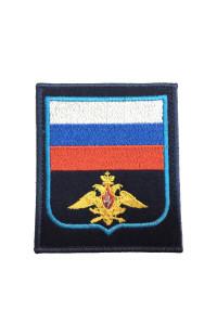 Шеврон Флаг РФ орёл ВКС синий