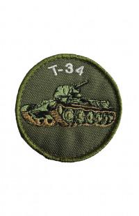 Шеврон Т-34 (детский) хаки на контактной ленте