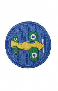 Шеврон самолет синий