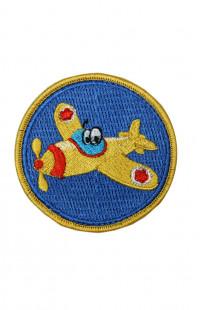 Шеврон самолет (детский) синий на контактной ленте
